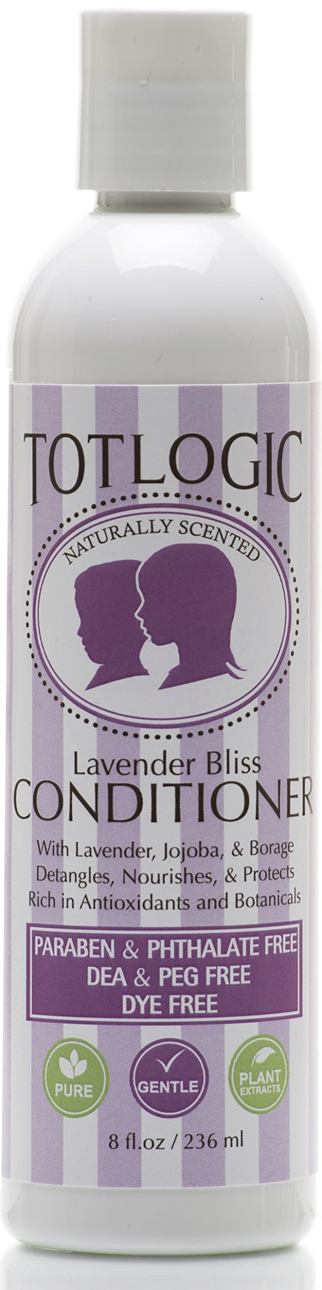 TotLogic Kids & Baby Safe Conditioner - 8 oz , Lavender Bliss, Infused with Natural Jojoba Oil and Rich in Antioxidants, No Phthalates, No Parabens, No Sulfates, DEA and PEG Free,