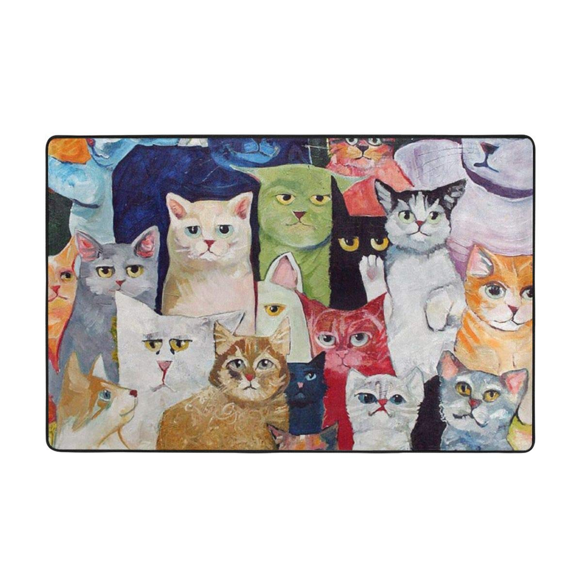 Not Ball Fine Down Durable Not Fade,Non-Slip Many Cat Carpet 60 X 39 in,Soft to Touch