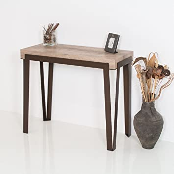 Group Design Rio Table Console Extensible En Noyer Naturel Avec