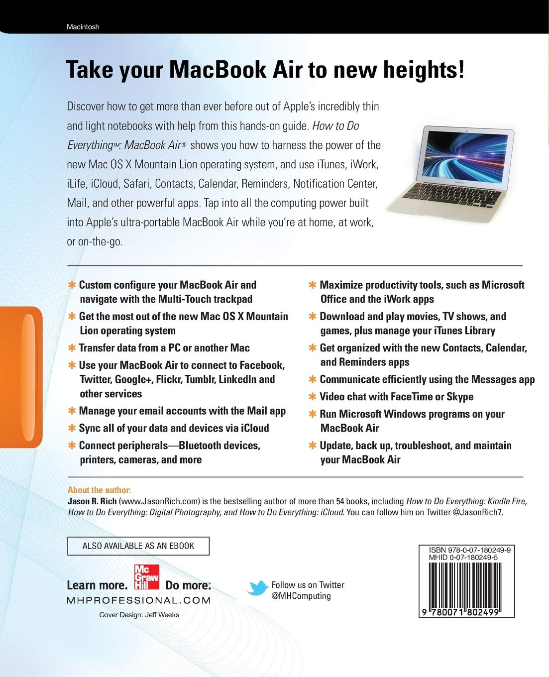 How to Do Everything MacBook Air: Amazon co uk: Jason Rich