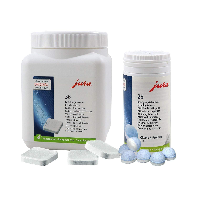 Jura 62535 + 70751 nevera Pack, 25 pastillas de limpieza + 36 ...