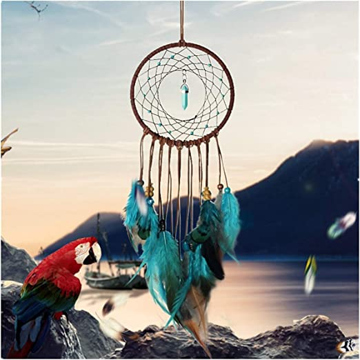 Feather Dream Catchers Kids Baby Crib Mobile Car Wall Feather Hanging Ornament for Home Decoration Craft Blessing Gift