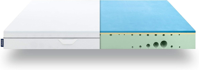 Colchón Emma One 160x200 cm Firmeza Media - Viscoelástico Premium - Transpirable, Adaptable, Color Blanco (Todas Las Medidas)