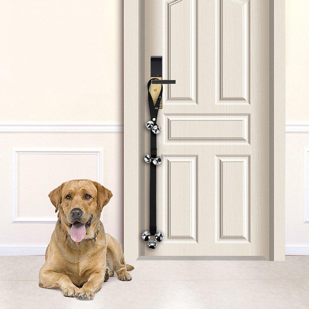 Galaxer Dog Door Bell 2 Pack Adjustable Toilet Training Door
