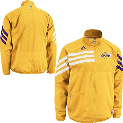 dc0a6b731c1 Amazon.com : NBA adidas Los Angeles Lakers On-Court Warm-Up Jacket ...