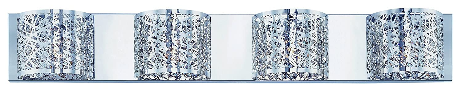 ET2 Lighting E21317-10PC Bathroom Fixture with Clear and White Glass Shades, Polished Chrome Finish by ET2 Lighting B00E0KKZOM