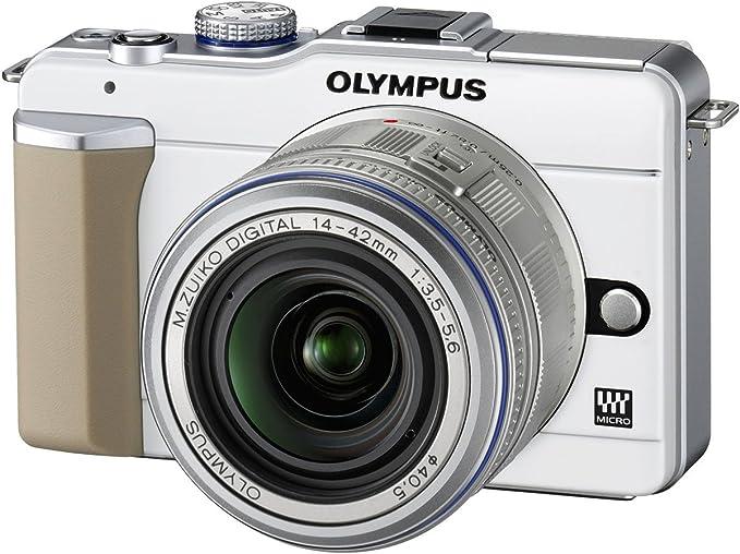 Olympus Pen E Pl1 Systemkamera Double Zoom Kit Weiß Kamera