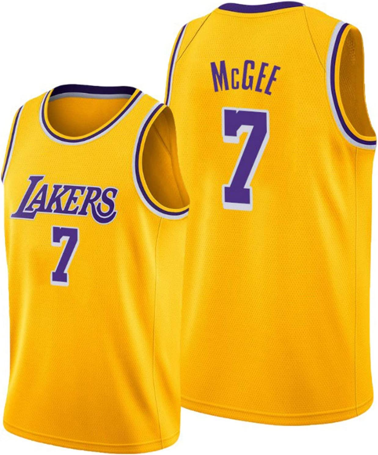 Hot-Pressed Version Polyester Breathable Basketball Performance Vest TGBYHN 2020 Finals Laker Men Basketball Jersey McGee 7# Real Jersey S-XXL