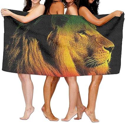 Fedso gentleman leone della Giamaica Reggae spiaggia asciugamani da bagno in microfibra ultra assorbente telo da picnic tappetino per unisex bambini