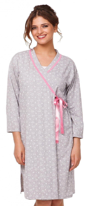 Womens Maternity Tulip Nightie / Pyjama /Robe SOLD SEPARATELY. 980p at Amazon Womens Clothing store: