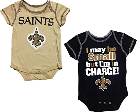 Outerstuff Nfl Infant Girls New Orleans Saints Assorted 3 Pack Creeper Set Football-nfl