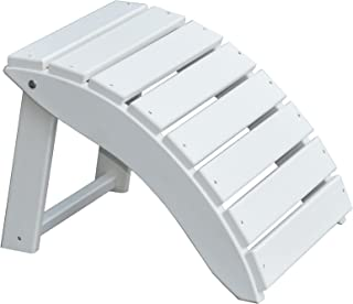 product image for Furniture Barn USA Poly Folding Round Ottoman Footrest - White