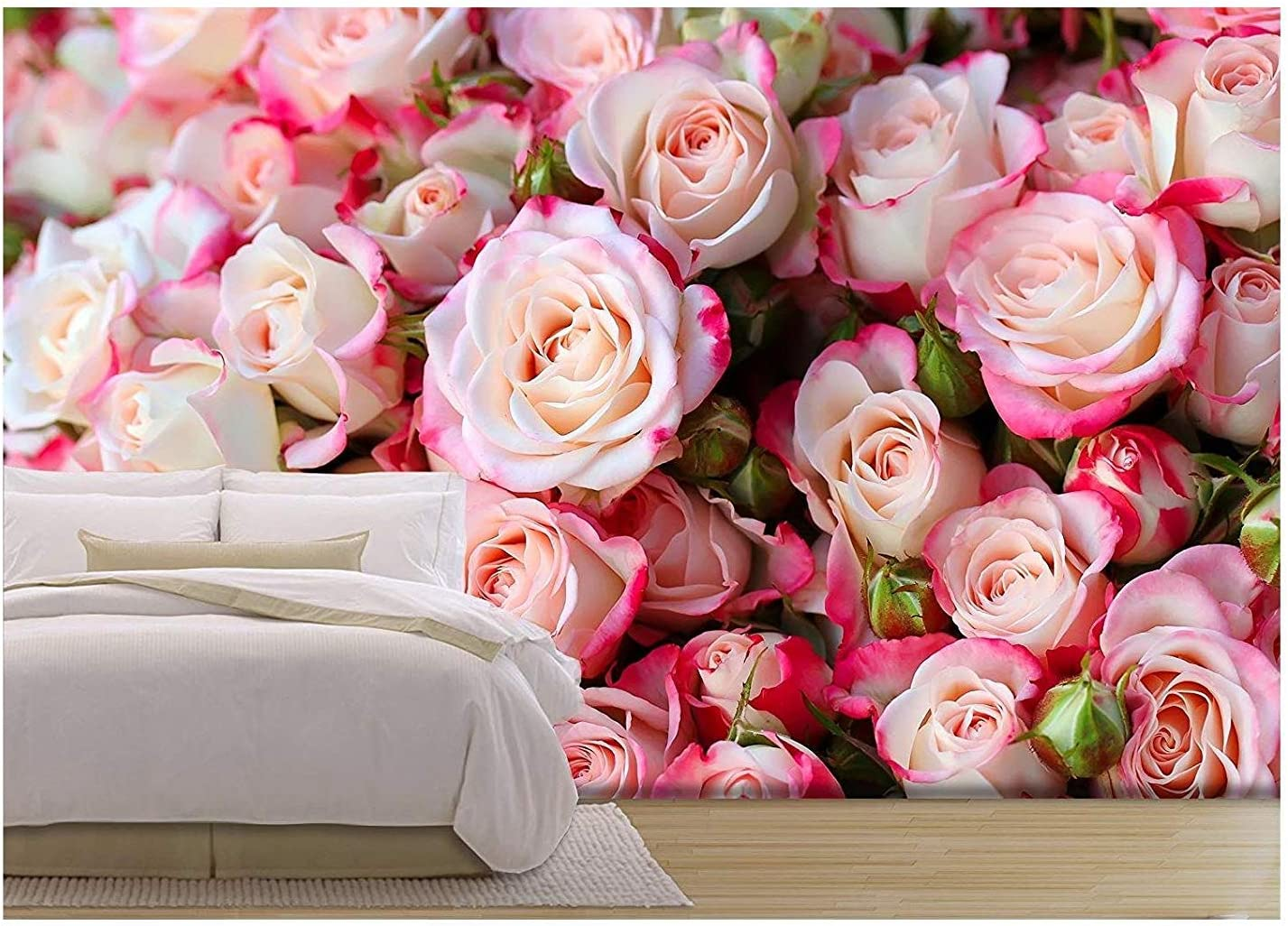 Wall26 Roses Background Removable Wall Mural Self Adhesive Large Wallpaper 100x144 Inches Home Improvement Amazon Com