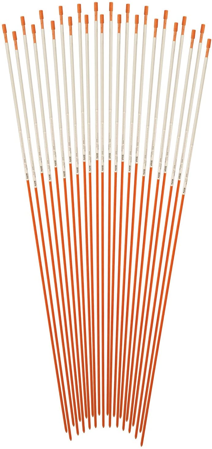Blazer Orange 48-Inch Fiberglass Pole Reflective Driveway Marker