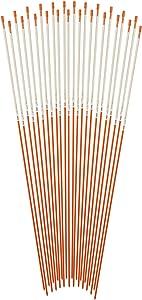 Blazer International 381ODM-24 Orange 48-Inch Fiberglass Pole Reflective Driveway Marker, 24 Pack