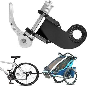 Enganche Universal para Remolque de Bicicleta, Adaptador Cabeza de Tracción y Tornillo,Acero Conector,Accesorios de Remolque Bicicleta para Niños (Silber): Amazon.es: Deportes y aire libre
