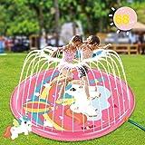 """Soopotay Splash Pad for Kids Toddlers, Unicorn Sprinkler Mat 68"""" Yard Lawn Outdoor Water Play Sprinklers"""