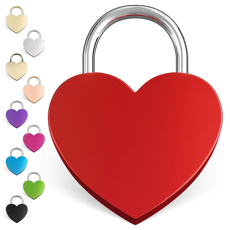 LIEBESSCHLOSS-FACTORY Liebes Herzschloss rot mit Gravur, gratis Geschenk-Box uvm... Jetzt graviertes Schloss selbst gestalten! Liebesschloss Factory