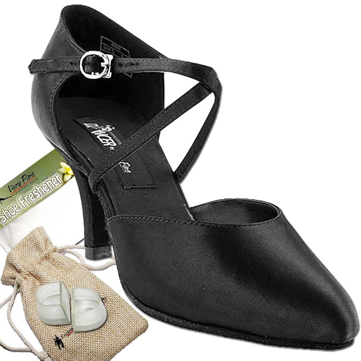 【人気No.1】 レディース社交ダンスシューズウェディングサルサタンゴ靴cd6017eb B(M) comfortable-very 8 [バンドルの5 Fine 2.75