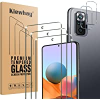 Kiewhay Schermbeschermer Compatibel met Xiaomi Redmi Note 10 Pro Screen Protector, 3x Gehard Glas +2x Camera Lens…