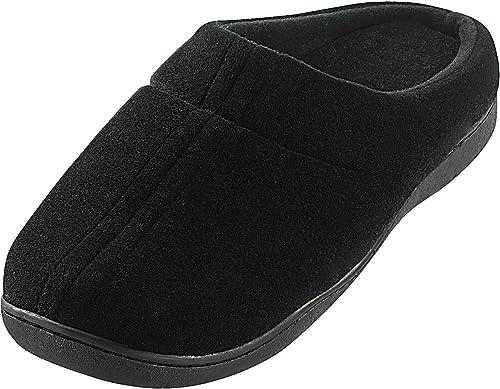 Newgen Medicals Pantoffeln: Komfort Hausschuhe mit thermoaktivem Fußbett Gr. 42 43 (Herrenhausschuhe)