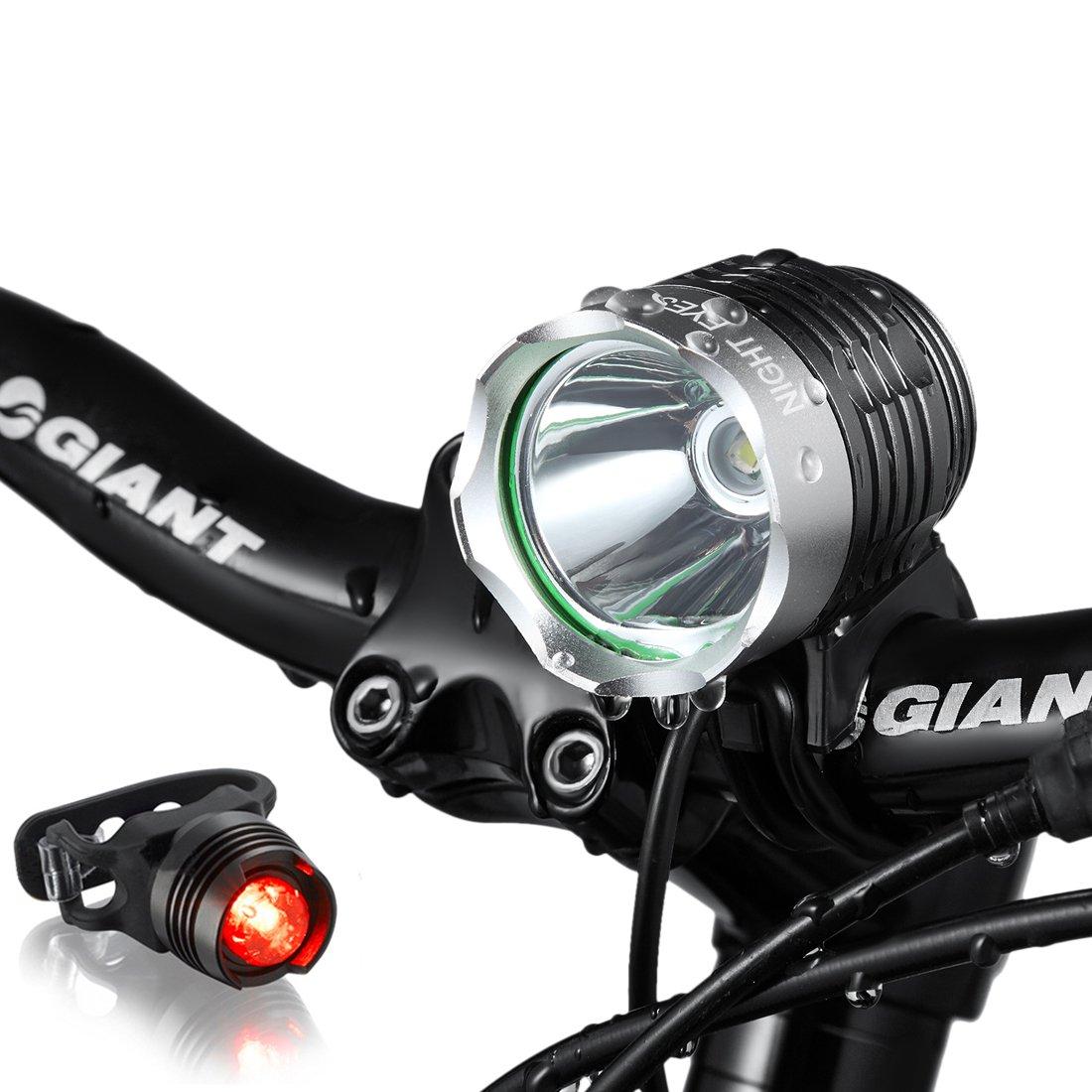Night Eyes Brightest 1200 Lumens Rechargeable Bike Light ...