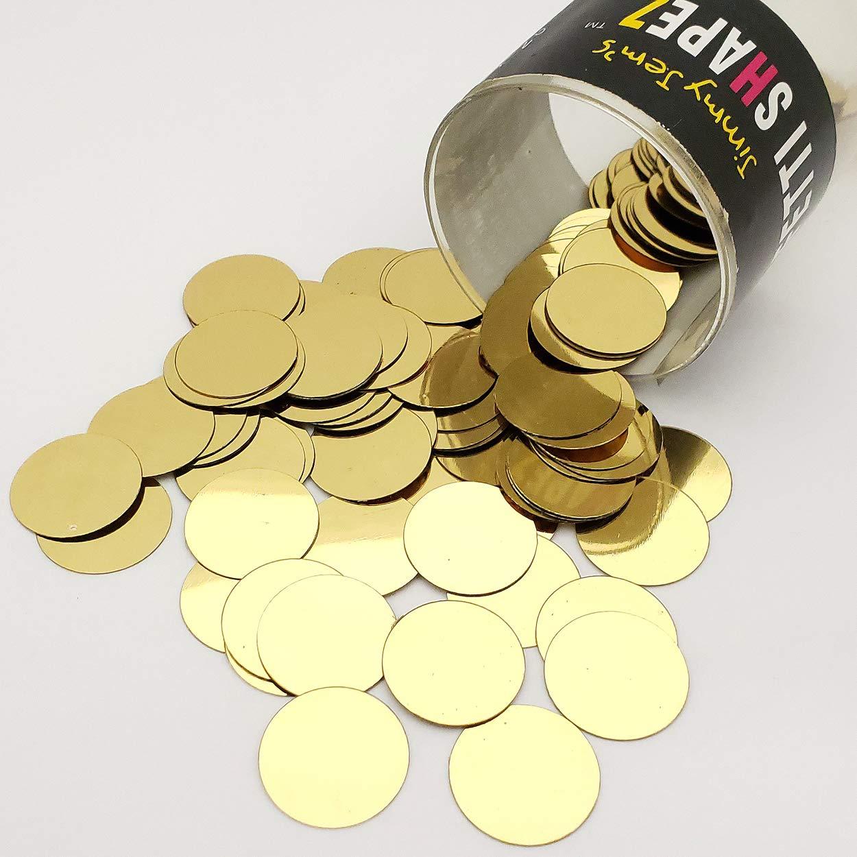 Confetti Circle 3/4'' Gold - Pound (16 oz) Free Ship (8921)