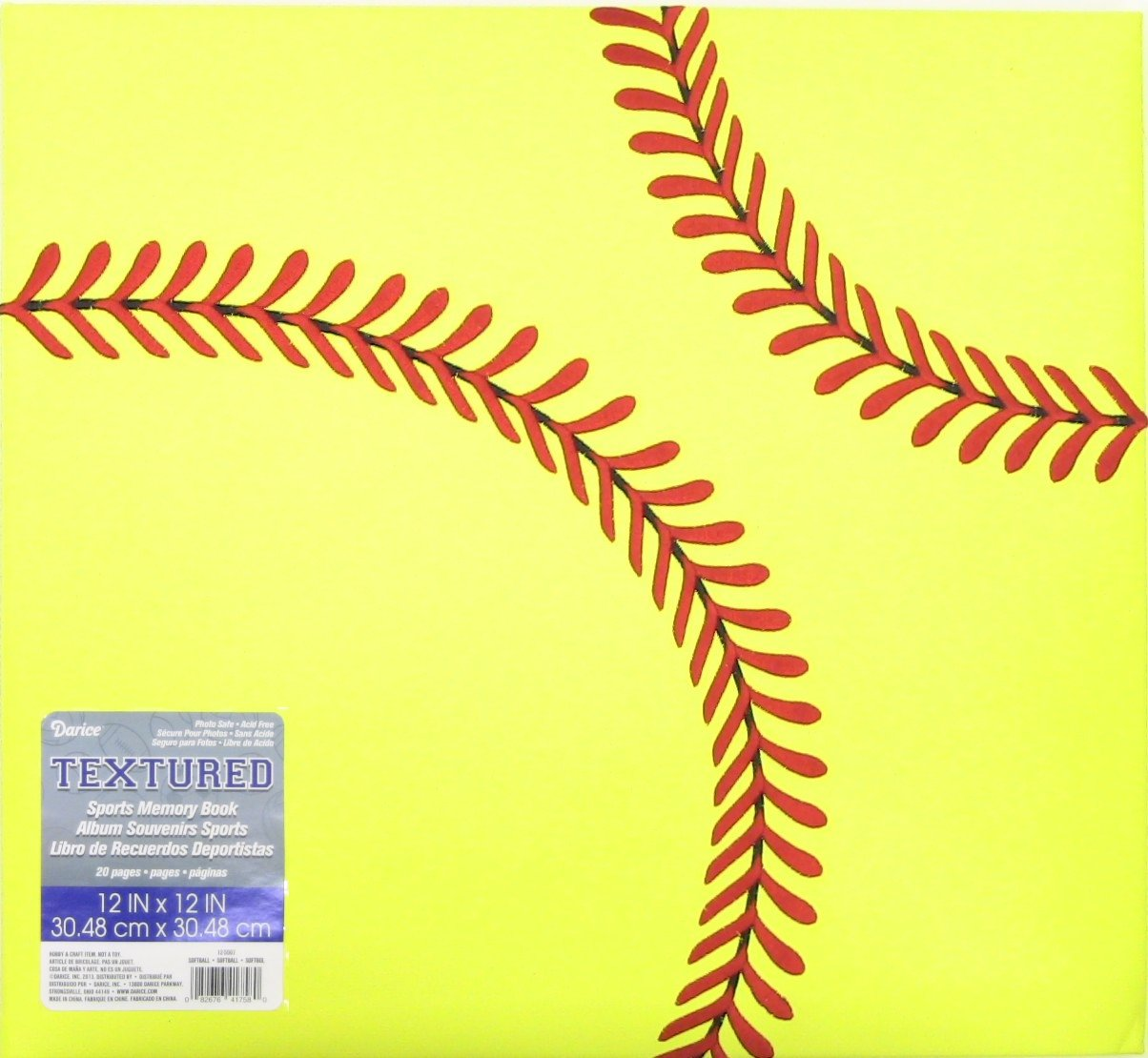 Darice 12-5007 Softball Themed Scrapbook, 12 by 12-Inch