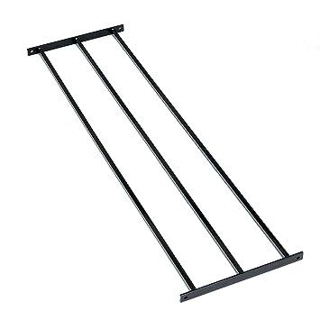 Dekorativer Zaun Panel Triple Uni Metall Schwarz Plain Amazon
