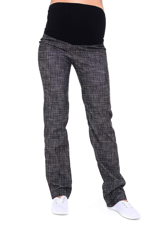 Mija - Maternity Trousers / Jeans classic straight cut Denim Over Bump 3014