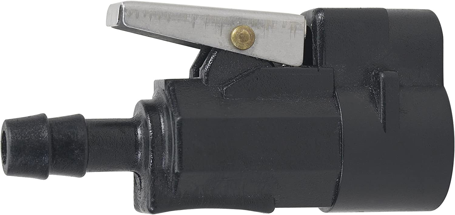 """Moeller Marine Fuel Tank Barb Connector (Mercury, 3/8"""", Female, Two Prong Clip Style,1998 and Newer Engines)"""