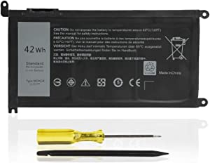 LIDUO WDX0R Battery for Dell Inspiron 13 5368 5378 5379 7368 7378 Inspiron 14 7460 Inspiron 15 5565 5567 5568 5578 7560 7570 7579 7569 Inspiron 17 5765 5767-42Wh/11.4V