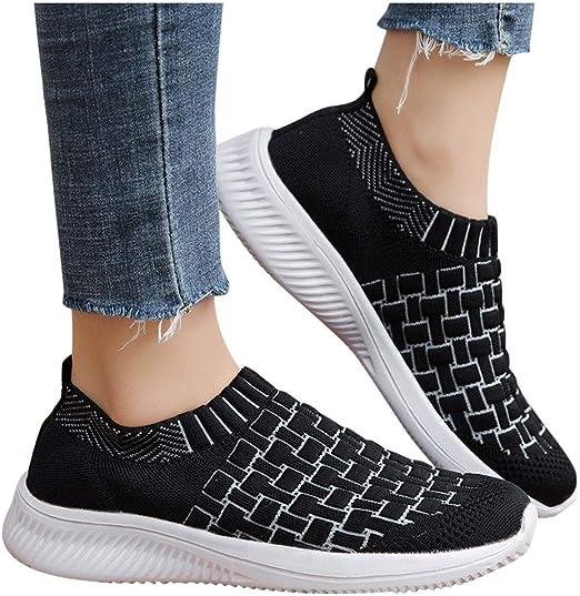 Zapatillas de Deporte Mujer sin Cordones Running Zapatos Gimnasia ...