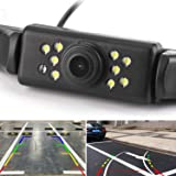 Car Rear View Backup Camera - 9 LEDs License Plate Rearview Camera,REOTECH Waterproof Reversing Camera,120° View Angle Auto Backing Camera for Trucks/SUV/RV/Pickup/Vans
