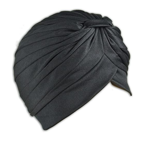 1 High Qaulity Stretchable Turban Hat (Black) at Amazon Men s ... d01485429bf