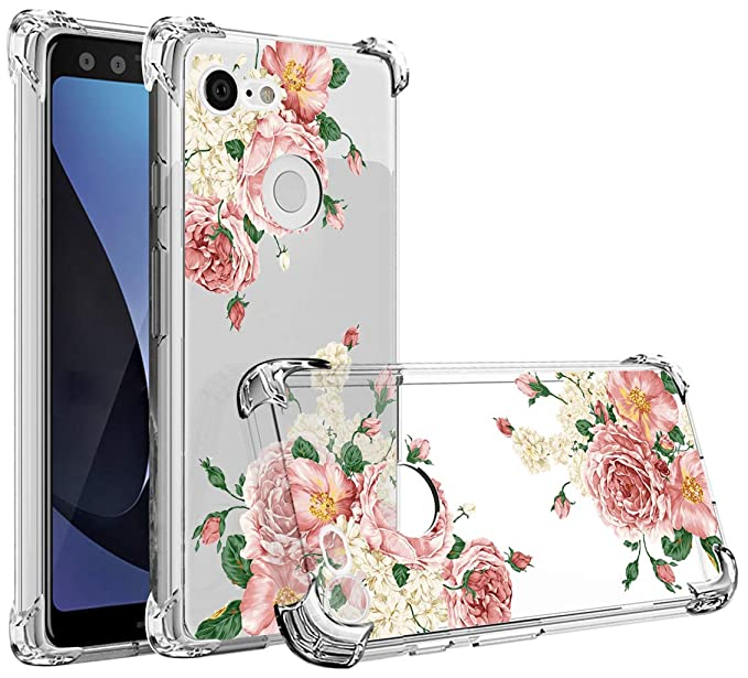 pretty nice 97010 18614 Osophter Compatible with Google Pixel 3 XL,Pixel 3 XL Flower Case  Shock-Absorption Flexible TPU Rubber Soft Silicone Full-Body Protective  Cover for ...