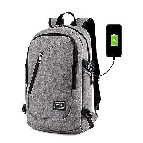 """Mochila de carga USB para portátiles de hasta 15.6"""", iCasso Anti-robo Travel"""