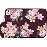 MOSISO Laptop Sleeve Compatible 2018 MacBook Air 13 A1932 Retina Display/MacBook Pro 13 A1989/A1706/A1708 USB-C 2018 2017 2016/Surface Pro 6, Water Repellent Neoprene Bag with Small Case,Rose Wine Red