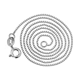 "Amazon Price History for:YFN Sterling Silver 0.8mm Box Chain Necklace, 14"" - 36"""