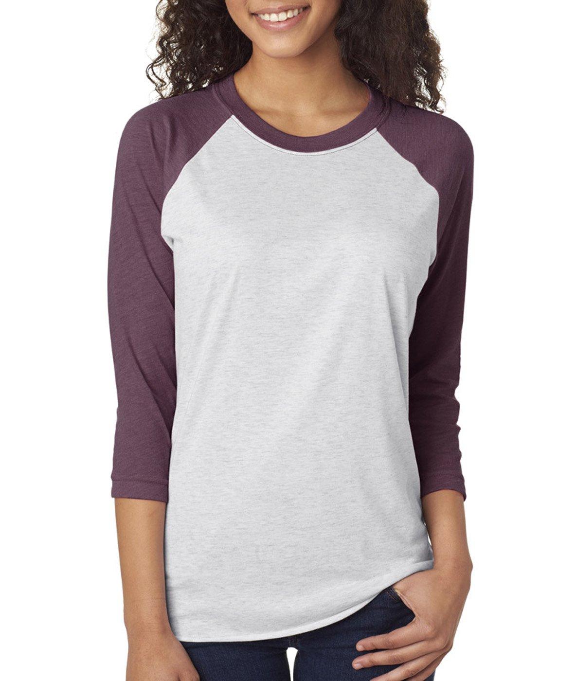 Next Level 6051 - Vintage Purple/Heather White-Large