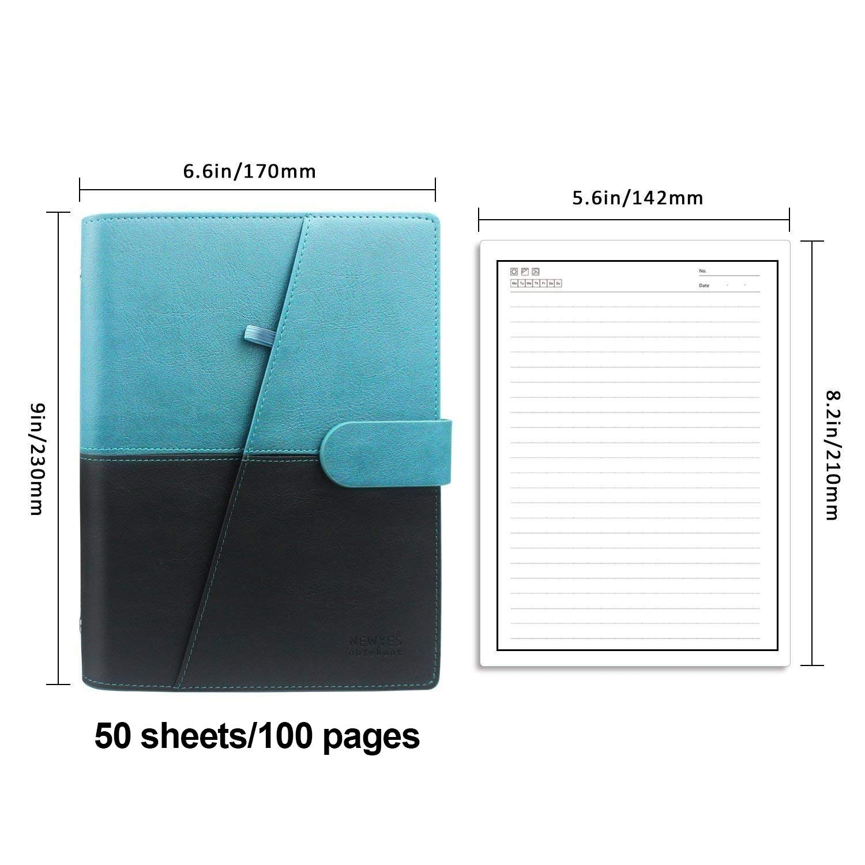 Taccuini Riutilizzabile Cancellabile Block Notes Nube Conservazione Quaderni Spirale per la Scuola Forniture Casa Memo di Scrittura Penna Inclusa A5 PU-Rosa 170 * 230mm NEWYES Smart Notebook