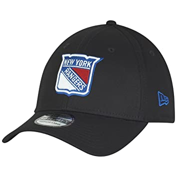 New Era New York Rangers Black Base 39Thirty Stretch Fit NHL Cap 40c4eda768a2