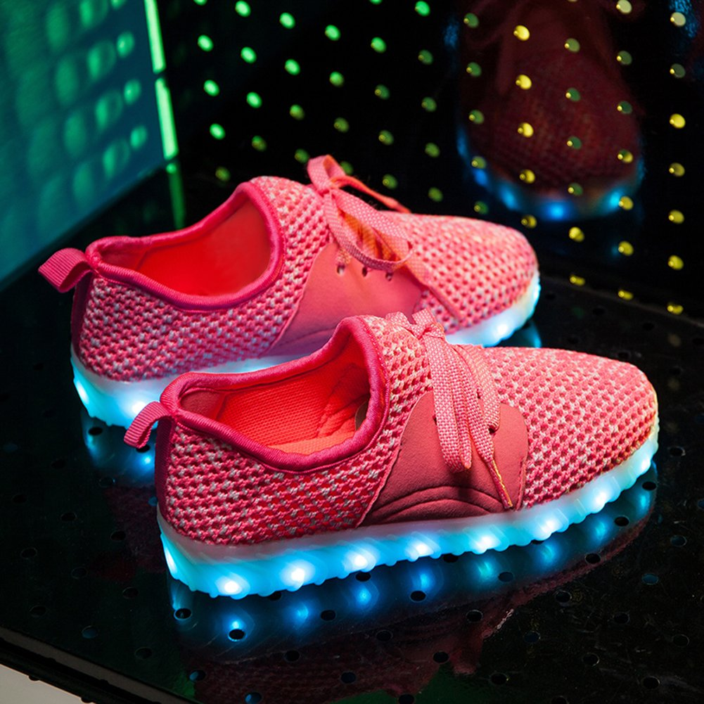 Sweeting Fashion Breathable LED Light Up Shoes Flashing Sneakers For Kids Boys Girls ST999P-34