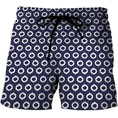 Athletic Shorts Pockets,Ocean Decor,Quick-Drying Swim Trunks Board Shorts with