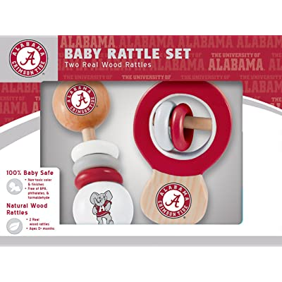 MasterPieces NCAA Alabama Crimson Tide Baby Rattle, 2-Pack: Sports & Outdoors