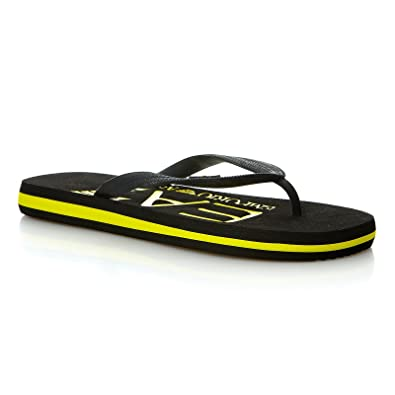91202fc7fde Emporio Armani Tong EA7 (Noir)  Amazon.fr  Chaussures et Sacs