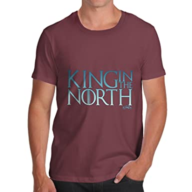 TWISTED ENVY Herren T-Shirt King In The North Print Small Burgund