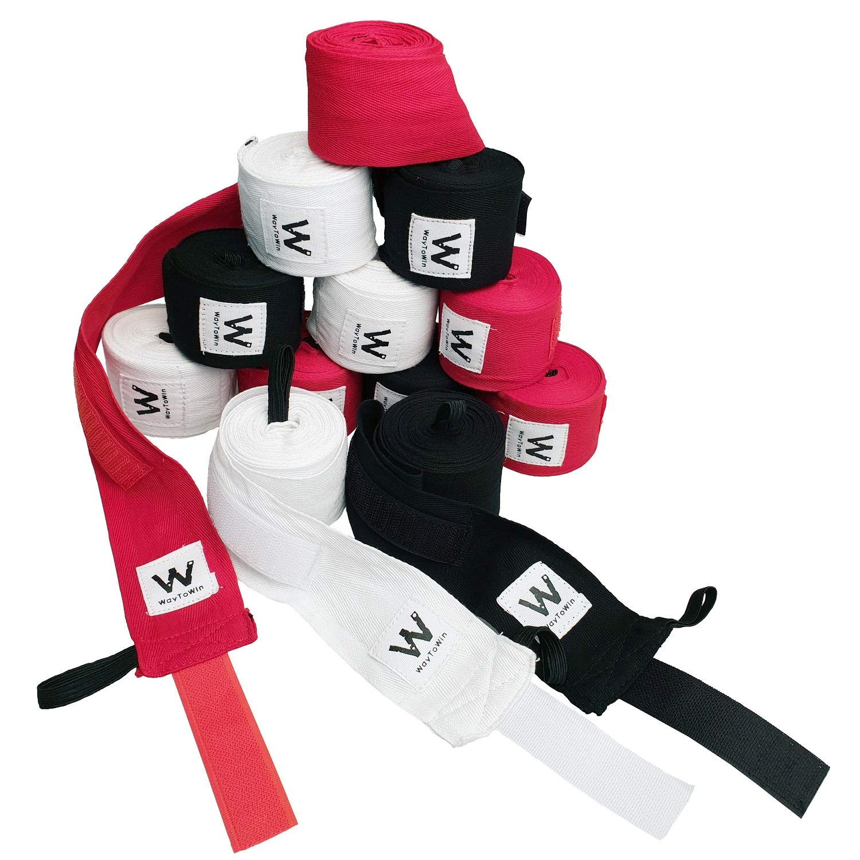 WayToWin Elastic Professional 180 inch Idea Two-Way Handwraps for Boxing Kickboxing Muay Thai MMA