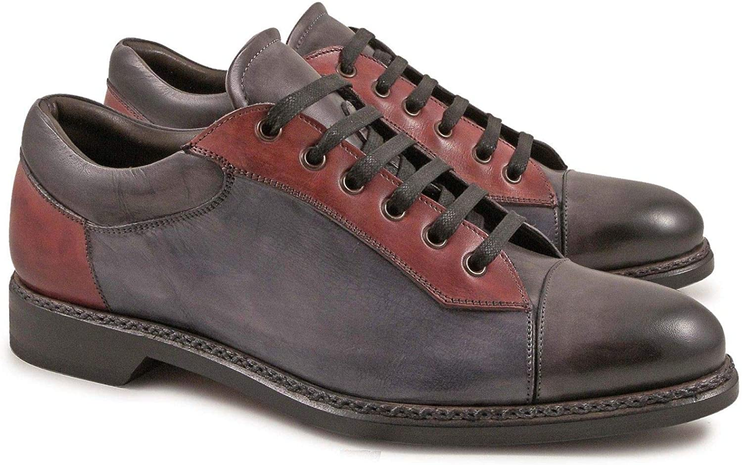 Season Outlet LEONARDO SHOES Luxury Fashion Mens 4848OXFORDDELAVEGRIGIO Multicolor Sneakers