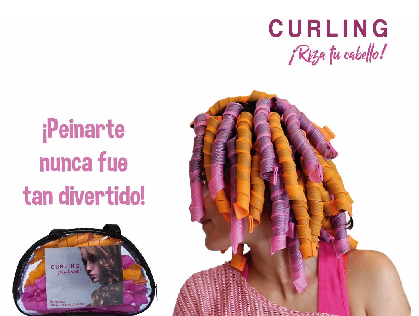 Curling - Rizador de cabello (Rosa - Azul)  Amazon.com.mx  Salud ... 36f8a541d477